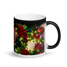 Load image into Gallery viewer, Christmas Tree Ornaments Matte Black Magic 11oz Coffee  Mug