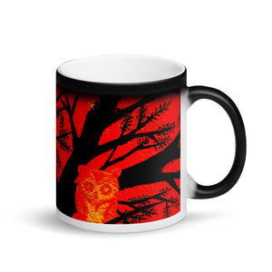 Spooky Tree Matte Black Magic 11oz Coffee Mug