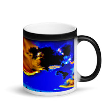 Load image into Gallery viewer, Exotic Sunset Sky Clouds 11oz Matte Black Magic Coffee Mug