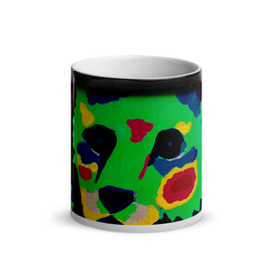 Green Teddy Bear Glossy Magic 11oz Coffee Mug