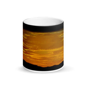 Sunset Warm Springs 11ozMatte Black Magic Coffee Mug