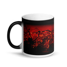 Load image into Gallery viewer, Halloween Lights Matte Black Magic 11oz Coffee Mug
