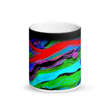 Load image into Gallery viewer, Swirling #3 Matte Black Magic 11oz Coffee Mug