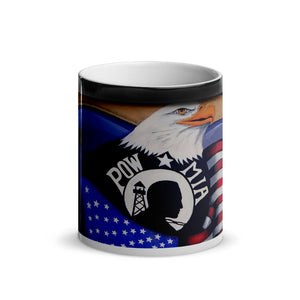 Pow-Mia Freedom Glossy Magic 11oz Coffee Mug
