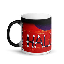 Load image into Gallery viewer, Red Halloween Banner Matte 11oz Coffee Mug
