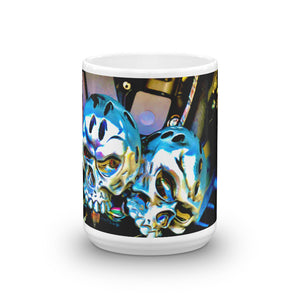 Twin V Skeleton Head Coffee Mug