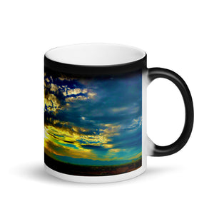 Sunset Mountain Vista 11oz Matte Black Magic Coffee Mug