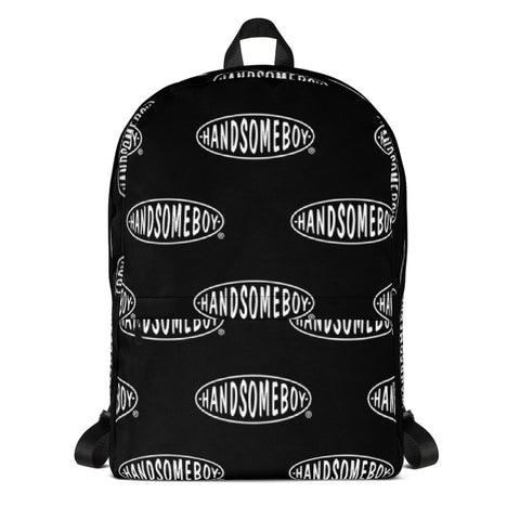HANDSOMEBOY® ORIGINALS AOP BACKPACK - BLACK