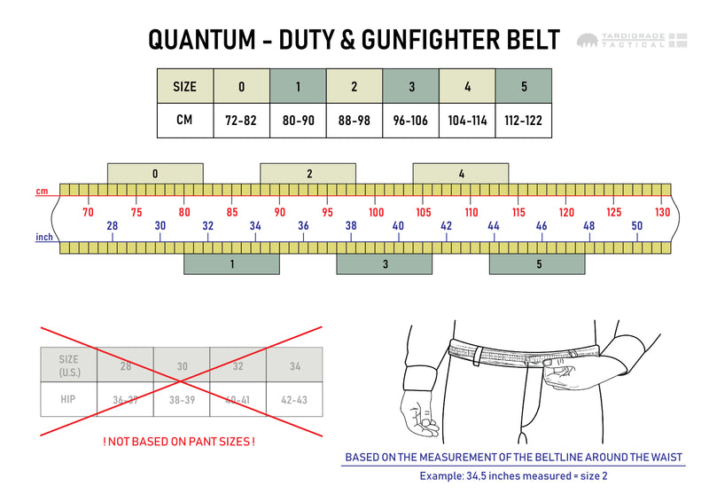 Quantum - Duty & Gunfighter Belt Multicam Original - ITW Polymer 3-point safety buckle