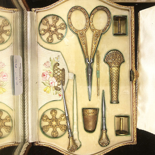 Antique French Embroidery Set