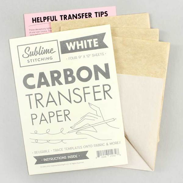 White Carbon Transfer Paper