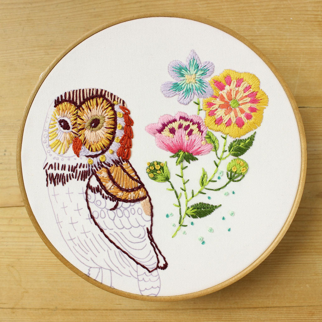 Nathalie Lete Embroidery Patterns Owl Modern Embroidery