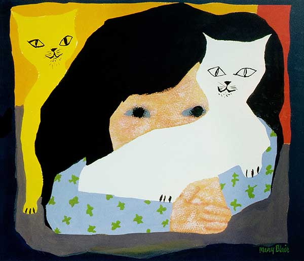 Mary Blair Girl With Cat