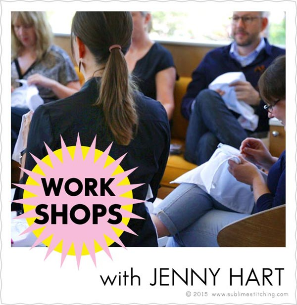 Jenny Hart Embroidery Workshops