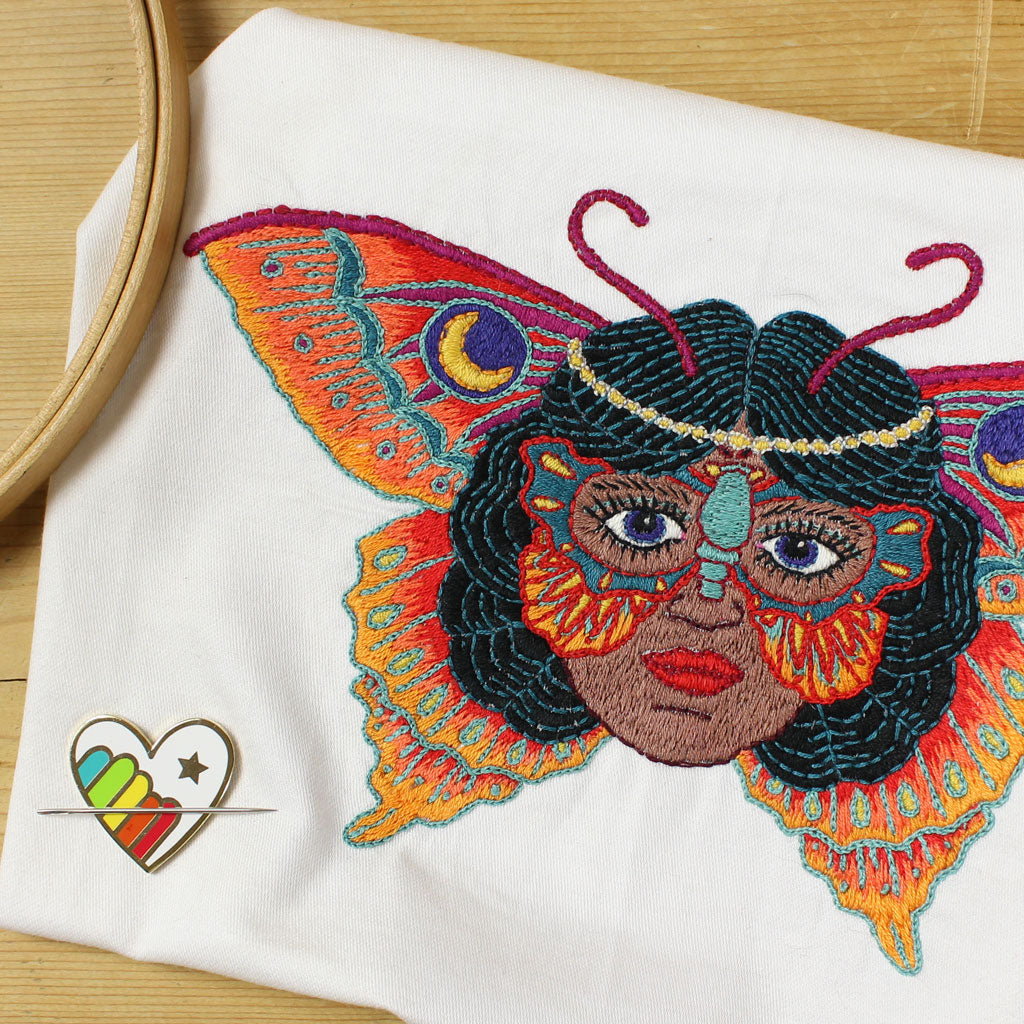 Butterfly Woman Embroidery Pattern