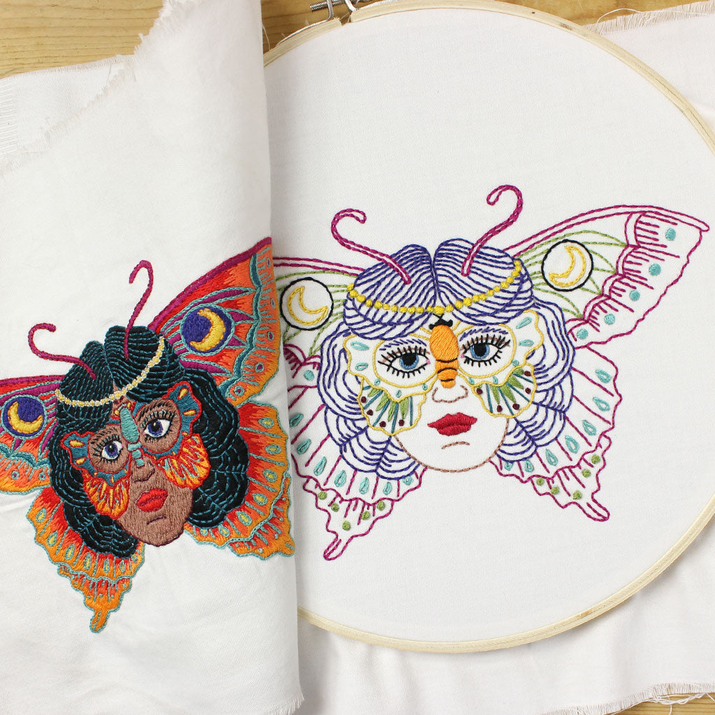 Butterfly Lady Embroidery Pattern Kyler Martz