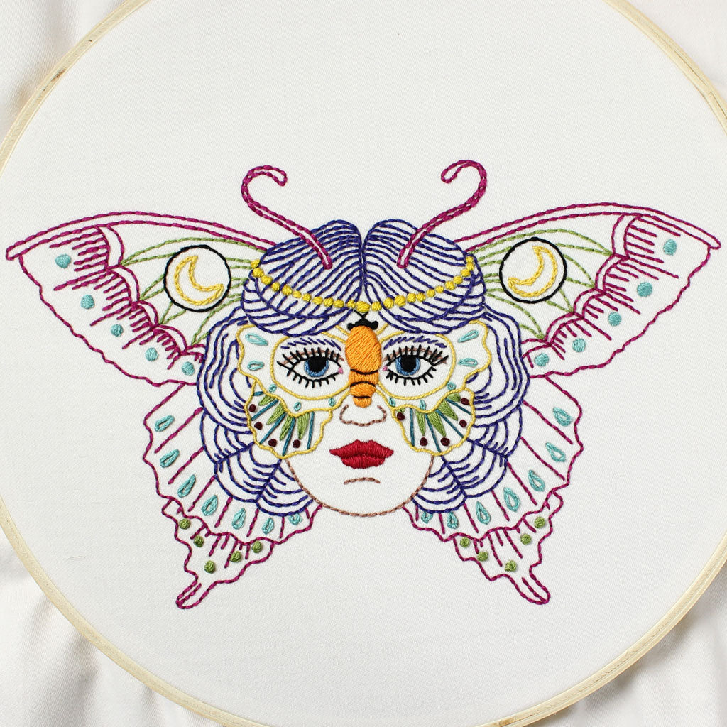 Butterfly Mask Embroidery Pattern