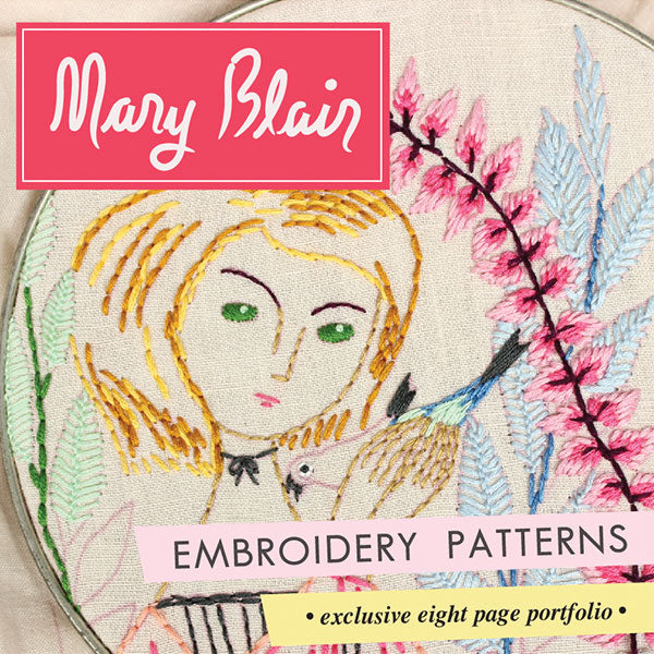 Mary Blair Embroidery Patterns from Sublime Stitching