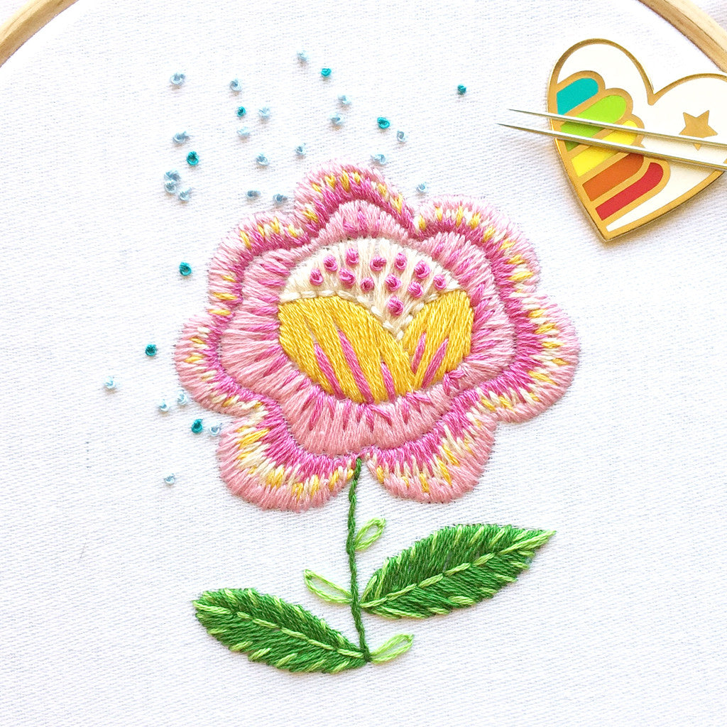 Contemporary Flower Embroidery Patterns