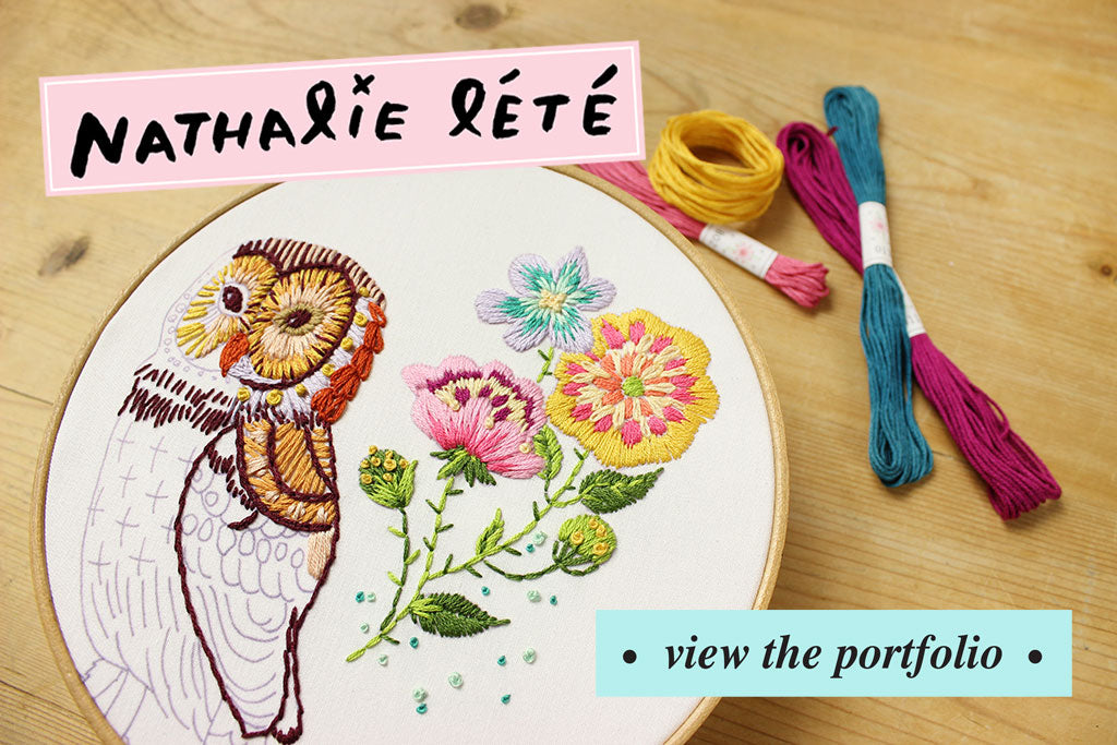 Nathalie Lete Embroidery Designs from Sublime Stitching