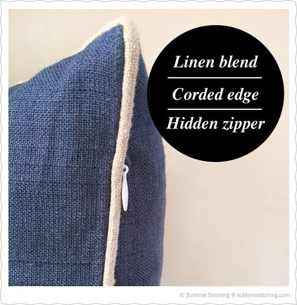 Linen Blend Pillow for Hand Embroidery