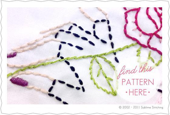 Stem Stitch Embroidery How To