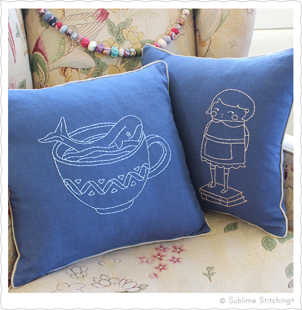 Hand Embroidered Pillow Kit from Sublime Stitching
