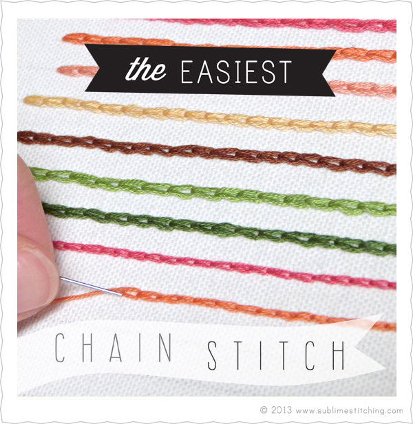 EASIEST Chain Stitch How-To for Hand Embroidery – Sublime Stitching