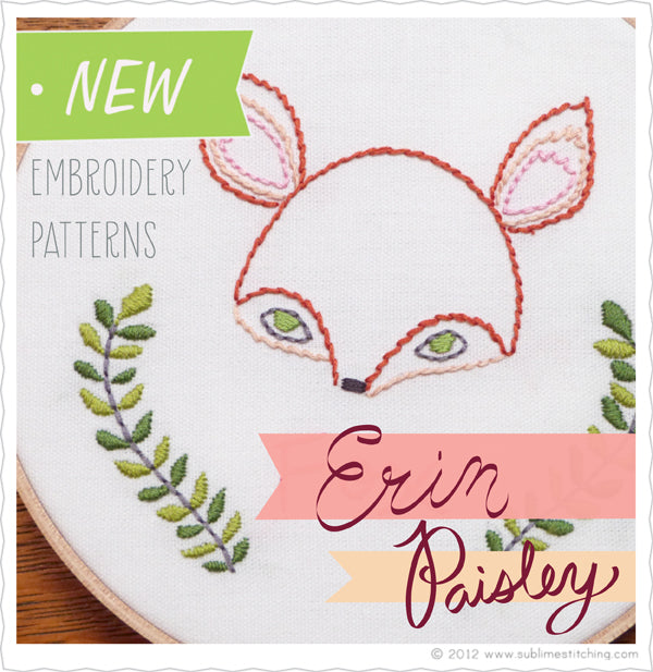 New Erin Paisley Embroidery Patterns From Sublime Stitching