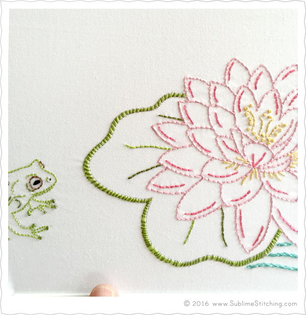 Large flower big blooms hand embroidery patterns sublime
