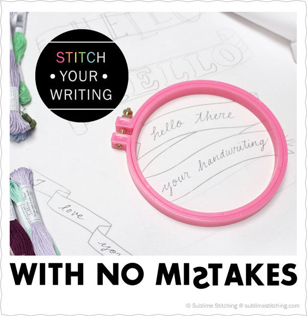 No Mistakes Embroidered Handwriting