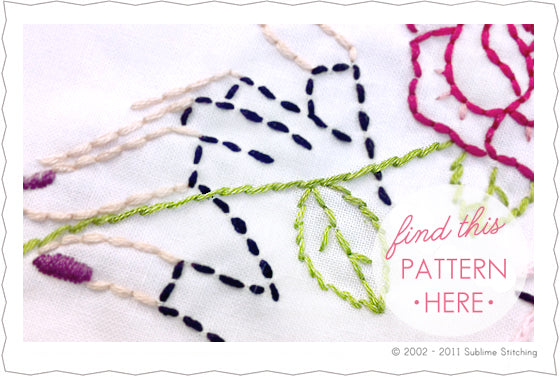 Hand Embroidery Stem Stitch Designs
