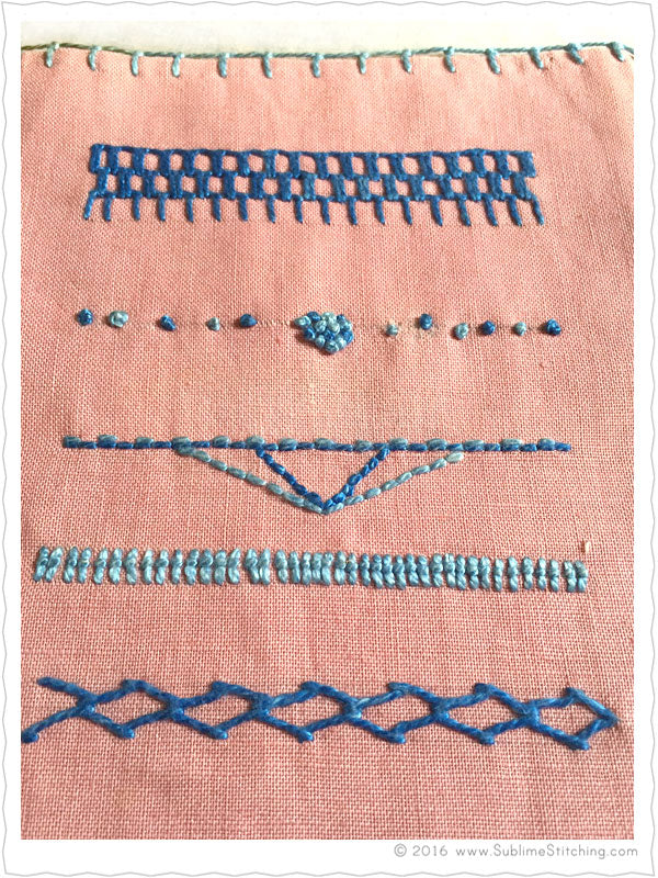 Hand embroidery stitches samplers sublime stitching