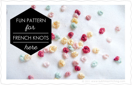 French Knots Embroidery Pattern