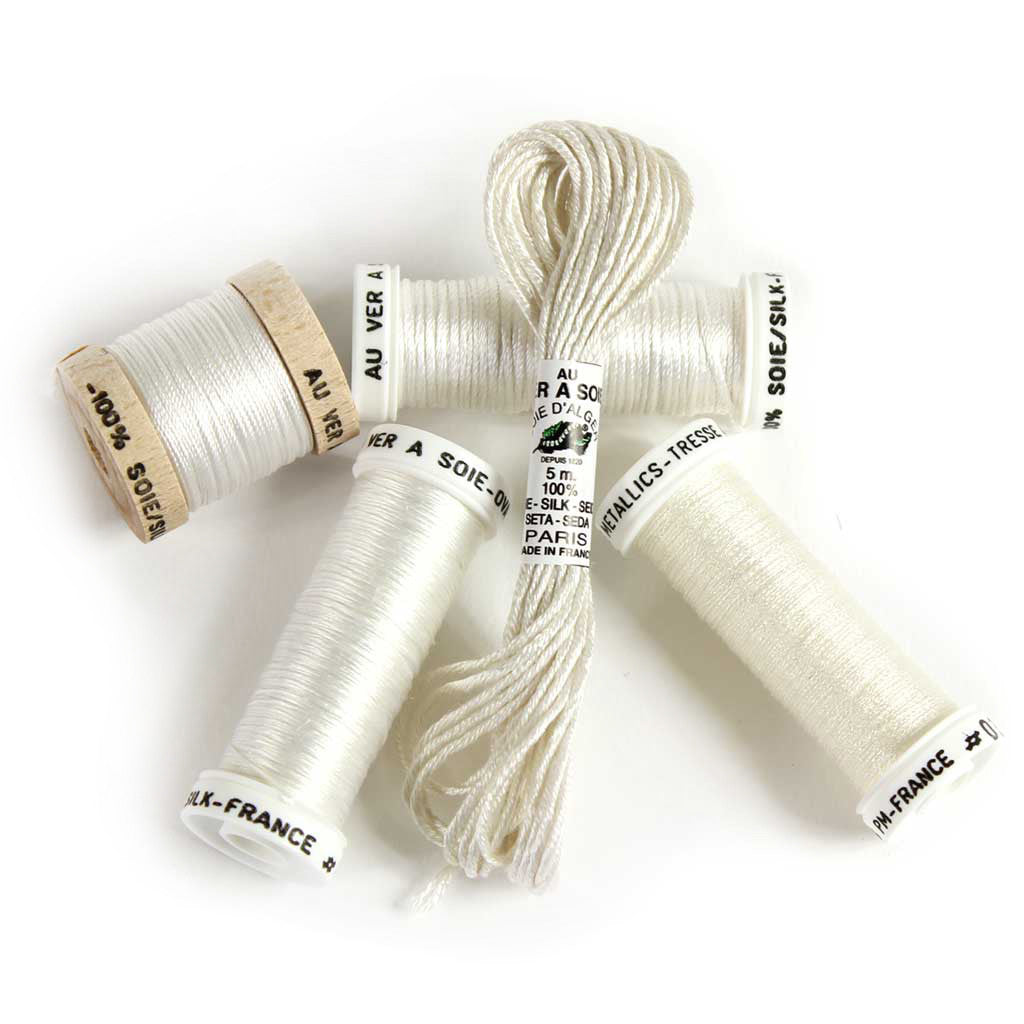 Au Ver à Soie Sampler Collection Silk Thread for Hand Embroidery - PEARL