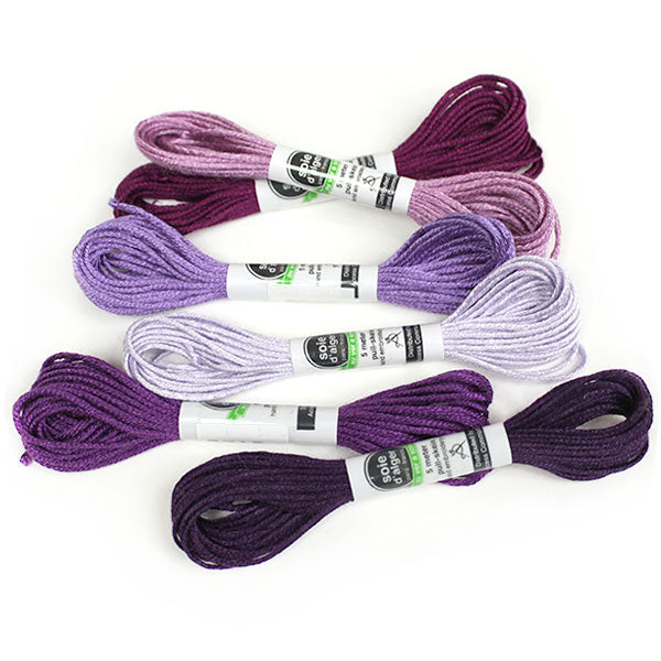 Au Ver à Soie 7 Strand Silk Alger Thread for Hand Embroidery - AMETHYST
