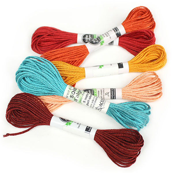 Au Ver à Soie 7 Strand Silk Alger Thread for Hand Embroidery - TEQUILA SUNRISE