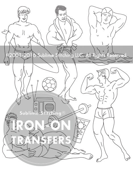 SMALL PACK Embroidery Patterns -  BEEFCAKE BEACH