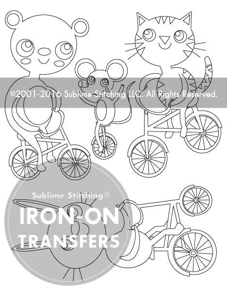 SMALL PACK Embroidery Patterns - BIKE PARADE HEIDI KENNEY