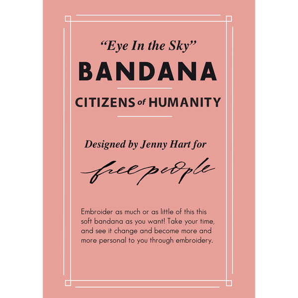 Citizens of Humanity x Jenny Hart for Free People - Bandana Embroidery Kit