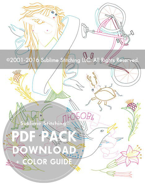 SMALL PACK Embroidery Patterns -  CARSON ELLIS