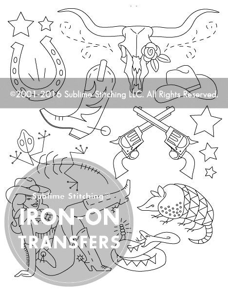 SMALL PACK Embroidery Patterns -  TEXAS STARS