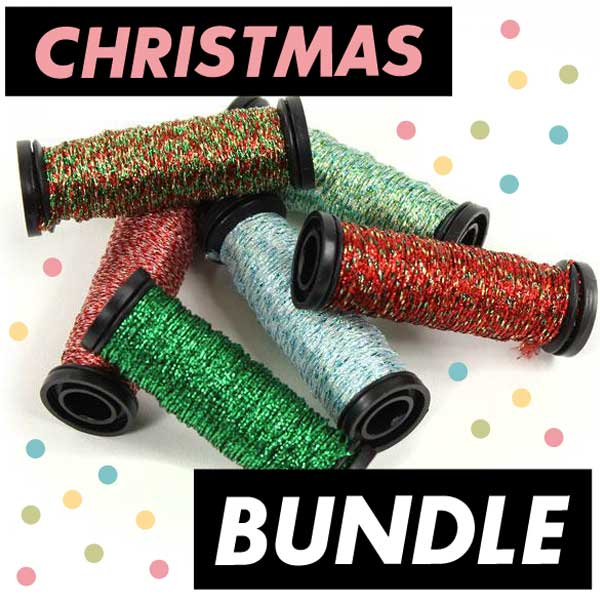 BUNDLE - Sparkly Christmas Threads and Patterns!