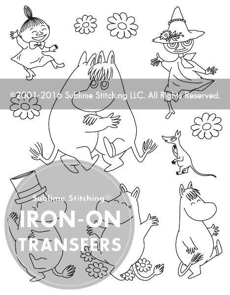 SMALL PACK Embroidery Patterns - MOOMIN DANCE PARTY