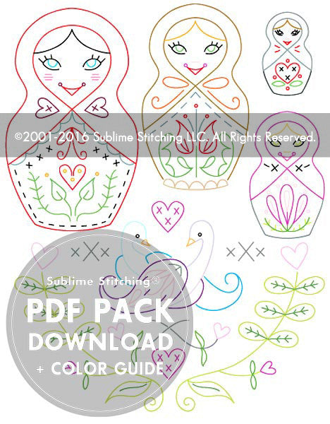 SMALL PACK Embroidery Patterns -  DUTCH RUSSIAN