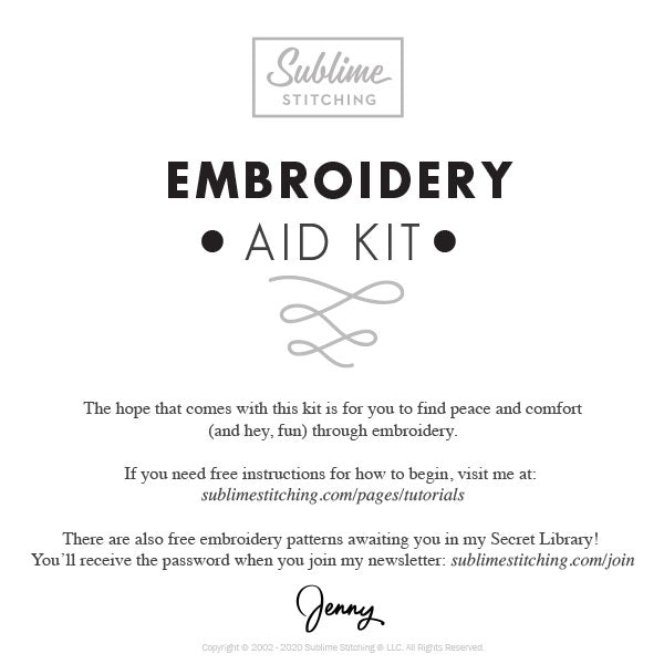 Sublime Stitching Embroidery Aid Kit