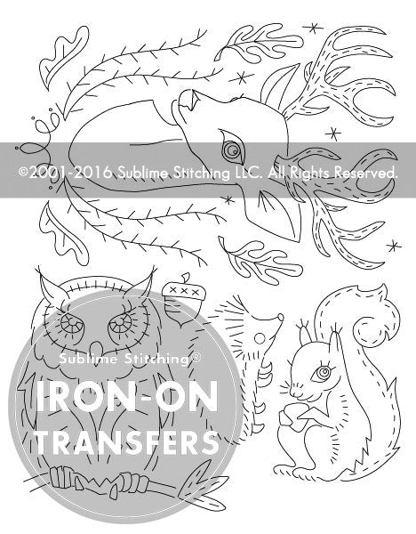 SMALL PACK Embroidery Patterns -  FOREST FRIENDS