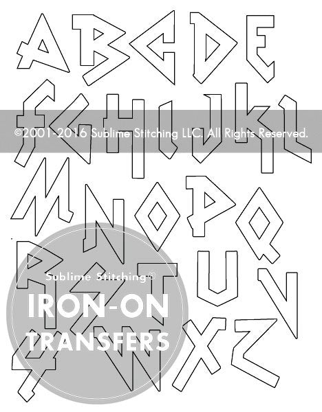 SMALL PACK Embroidery Patterns -  HEAVY METAL ALPHABET