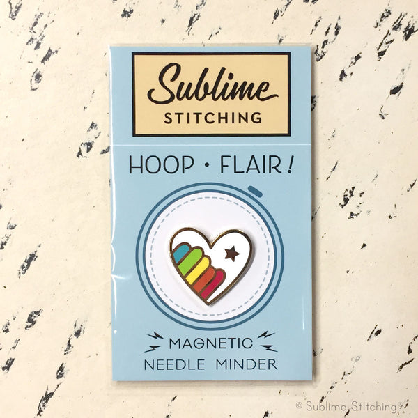 Hoop Flair Needle Minder - RAINBOW HEART