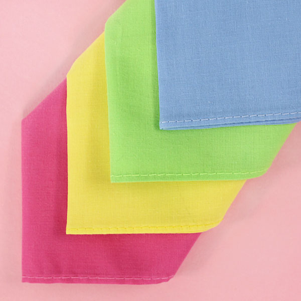 Vibrant Handkerchiefs for Embroidery